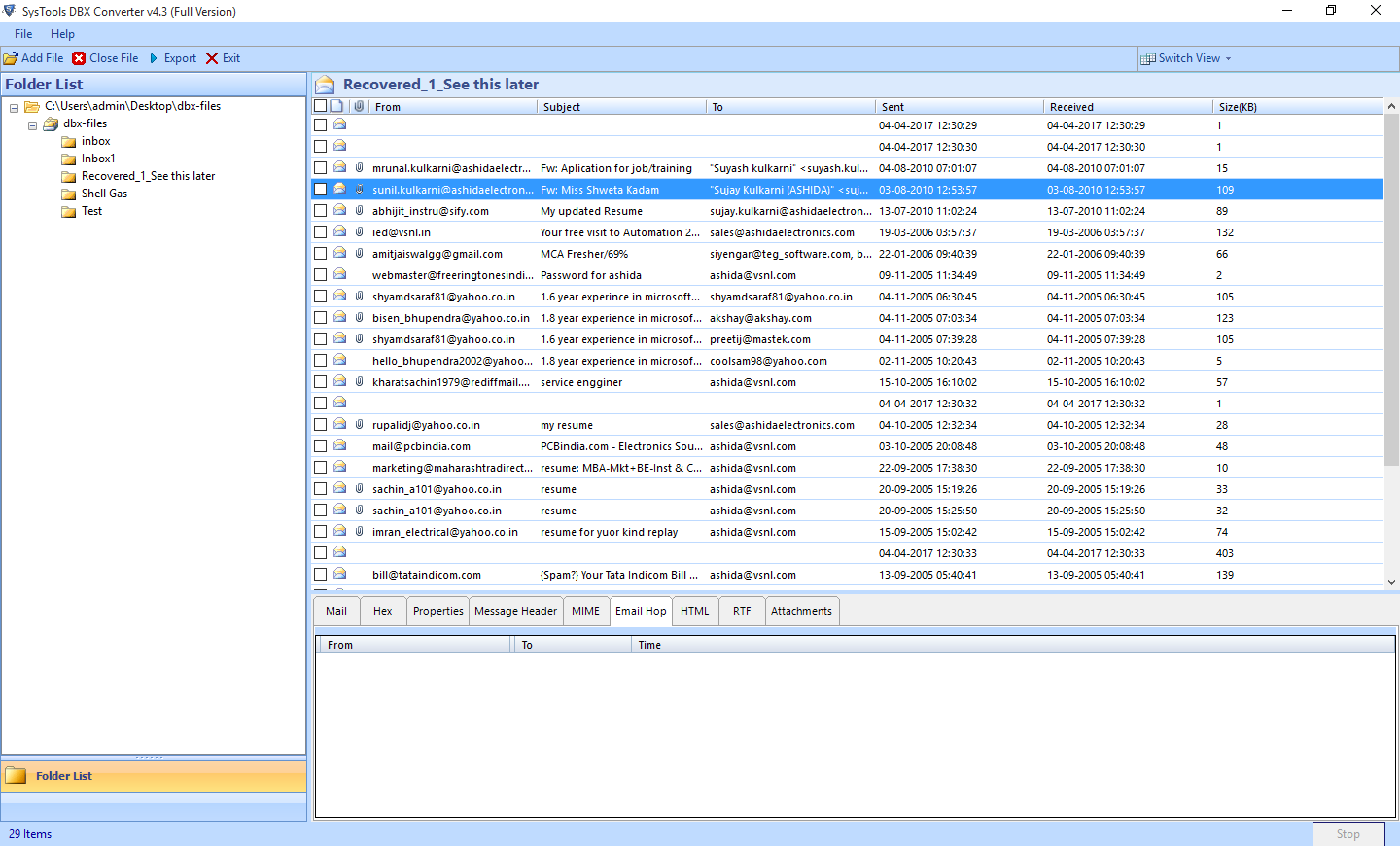 DBX to PST Converter to Access Outlook Express Files into Outlook - Image 5