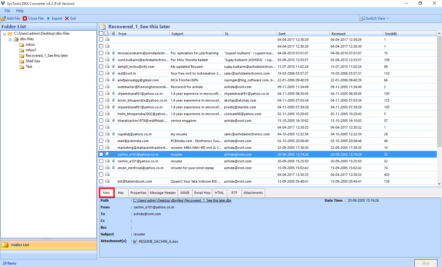 DBX to PST Converter to Access Outlook Express Files into Outlook - Image 6