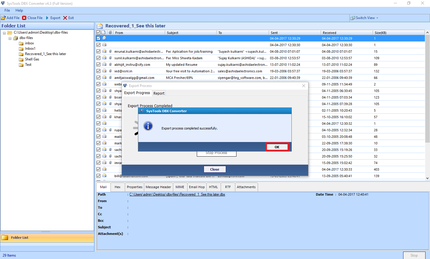 DBX to PST Converter to Access Outlook Express Files into Outlook - Image 12