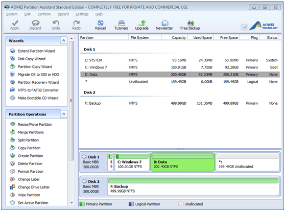 AOEMI Partition Assistant- A Free Partition Manager Which can Help You Completely Manage Your Partition - Image 1