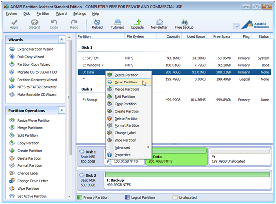 AOEMI Partition Assistant- A Free Partition Manager Which can Help You Completely Manage Your Partition - Image 2