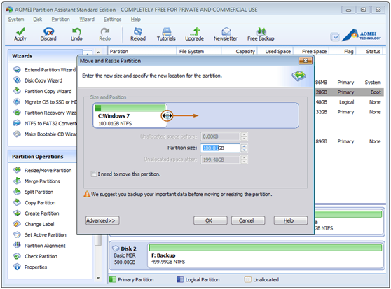 AOEMI Partition Assistant- A Free Partition Manager Which can Help You Completely Manage Your Partition - Image 5