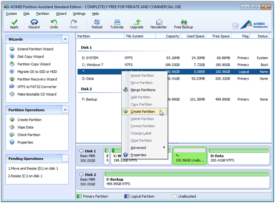 AOEMI Partition Assistant- A Free Partition Manager Which can Help You Completely Manage Your Partition - Image 6