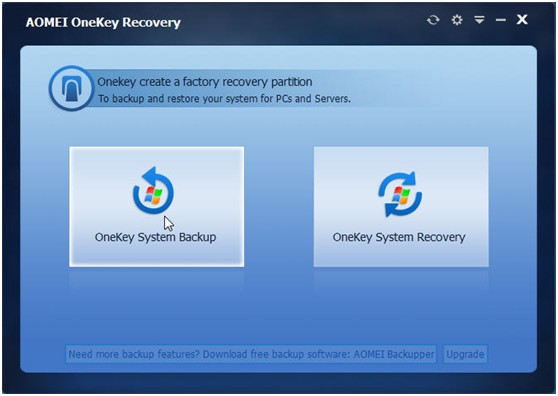 AOMEI OneKey Recovery - Create Recovery Partition and One Key Backup System for Windows PC - Image 1