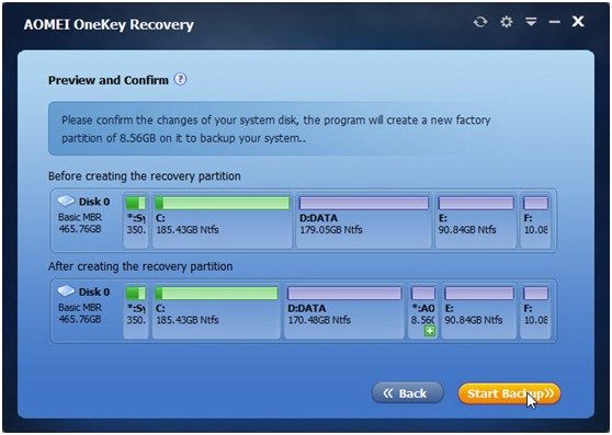 AOMEI OneKey Recovery - Create Recovery Partition and One Key Backup System for Windows PC - Image 4