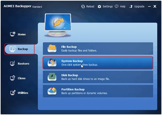 AOMEI Backupper Standard 3.2-Backup Windows 10 to External Hard Drive - Image 1