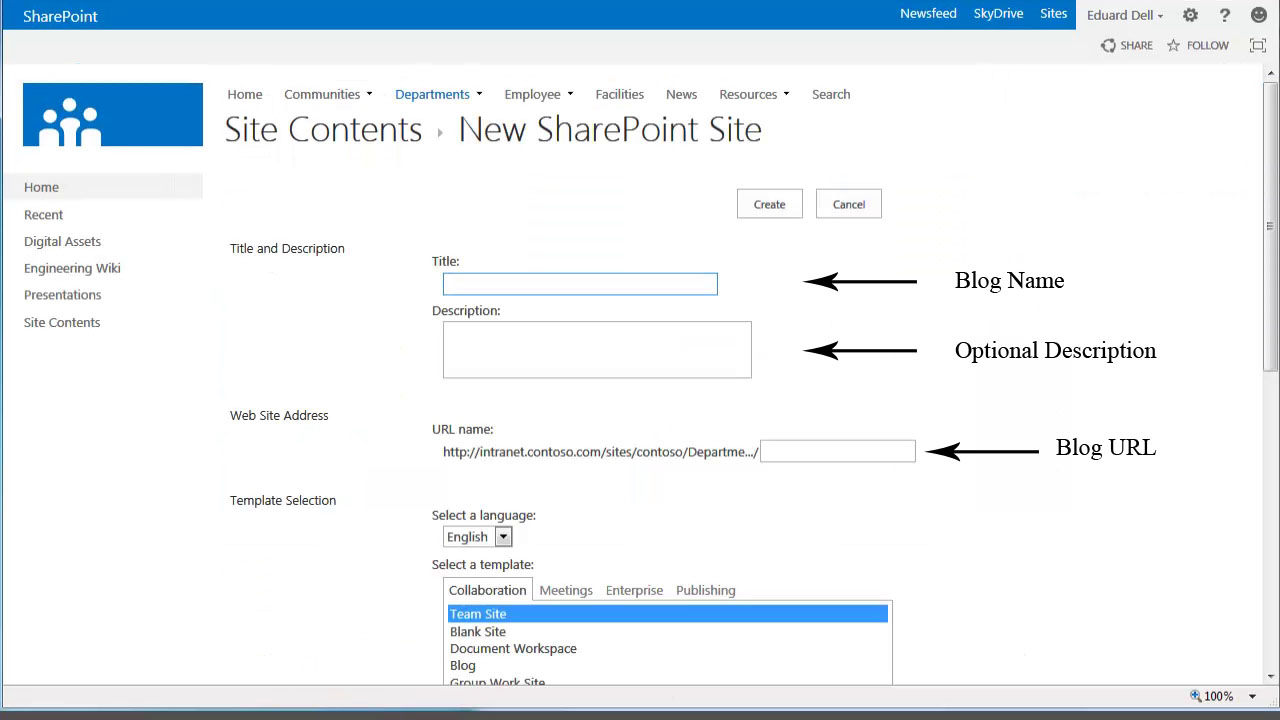 sharepoint 2013 blog template - how to create a blog with sharepoint 2013 6252 mytechlogy