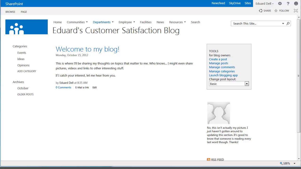 How to Create a Blog with SharePoint 2013 - Image 10