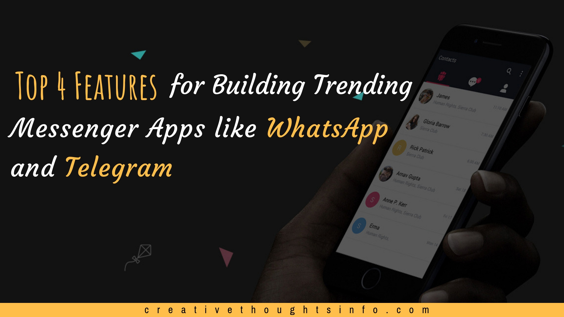 Top 4 Features for Building Trending Messenger Apps like WhatsApp and Telegram - Image 1